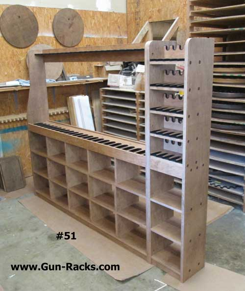 Single Level Gun Rack with Storage and Pistols : gun rack with storage  - Aquiesqueretaro.Com