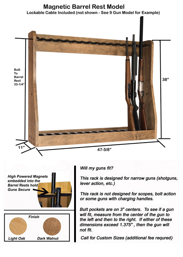 Magnetic Vertical Gun Rack 15