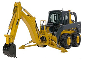 Backhoe without stabilizer pads