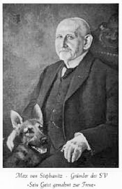 Max v. Stephanitz and the first registered German Shepherd Dog