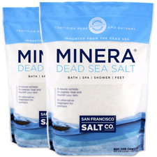 Minera Dead Sea Salt - Unscented 10lb bag