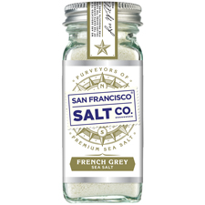 French Grey Salt 4 oz Glass Shaker