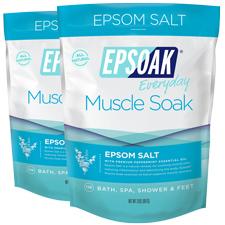 Epsoak Epsom Salt Muscle Soak 2 Pack - 2x2 lb Epsom Salt