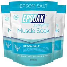 Epsoak Muscle Soak 3 Pack- 2lb Bags - Epsom Salt