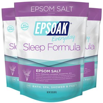 Epsoak Epsom Salt Sleep Formula 3 Pack - 3x2lbs bags