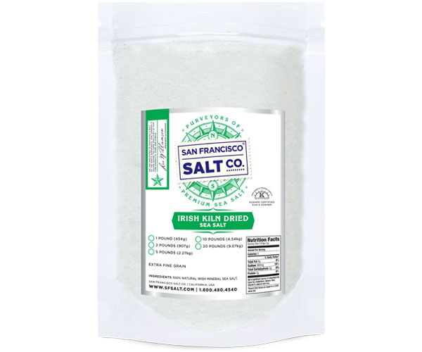 Irish Kiln Dried Sea Salt - 10lb Bag - Gourmet Salt