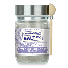 Lavender Rosemary Sea Salt - 8oz Chef Jar - Gourmet Salt