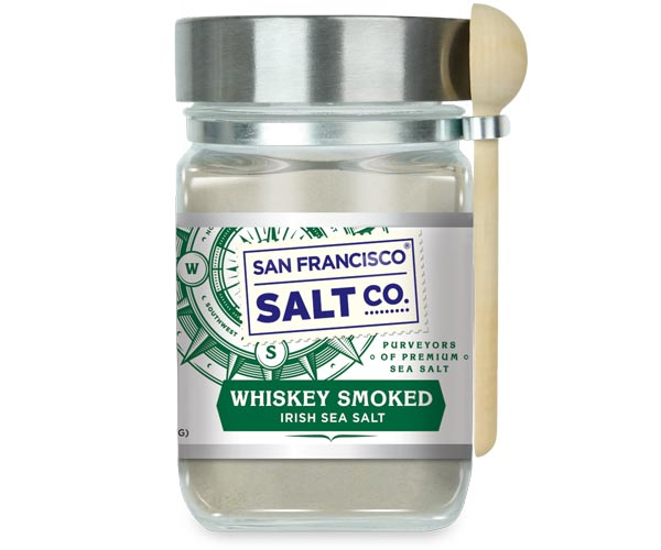 Whiskey Smoked Irish Sea Salt - 8oz Chef's Jar