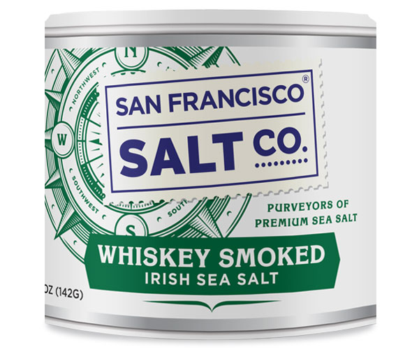 Whiskey Smoked Irish Salt - 5oz Stackbale - Gourmet Salt