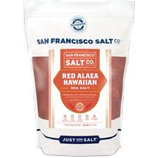 Fine Grain Alaea Hawaiian Sea Salt - 5 lb Bag | San Francisco Salt Co.