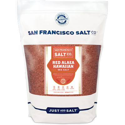 Coarse Grain Alaea Hawaiian Sea Salt - 5 lb Bag | San Francisco Salt Co.