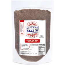 Smoked Applewood Salt 10 lbs Fine Grain
