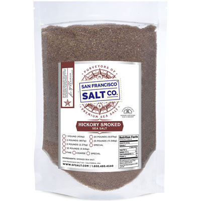 Hickory Smoked Salt 10lbs Fine Grain