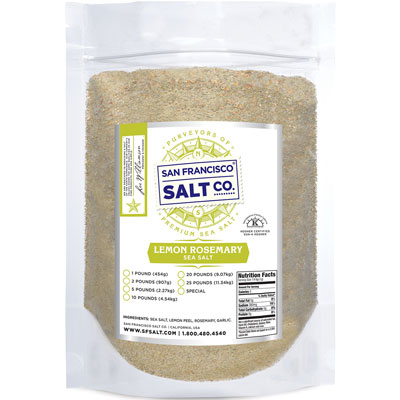 Lemon Rosemary Salt 10lb Bag