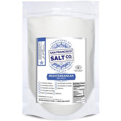 Fine Grain Mediterranean Sea Salt - 10 lb Bag