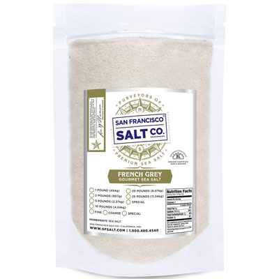 Fine Grain French Grey Salt - 10lb Value Bag - Bulk Salt
