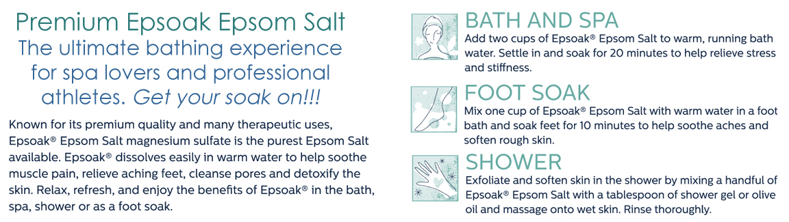 Why choose Epsoak Epsom Salt Magnesium Sulfate