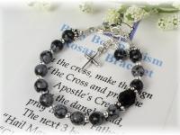 Baby Boy Baptism Rosary Bracelet