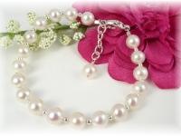 Baby Baptism Christening Bracelet White Freshwater Pearl