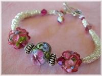 Lampwork Sterling Silver bracelet