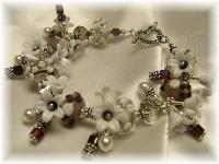 Lampwork Swarovski crystal fringe bracelet