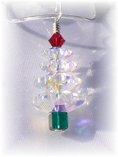 Swarovski Christmas Tree Pendant Necklace