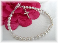 Swarovski pearl First Communion Bracelet