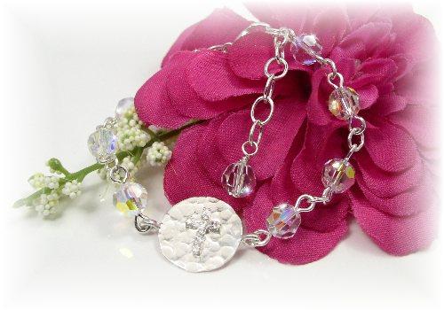 Swarovski crystal  First Communion Bracelet