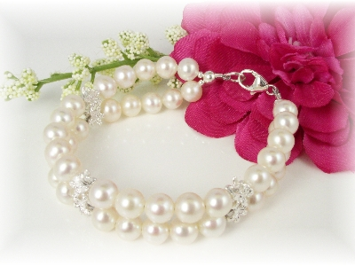 First Communion Bracelet White Freshwater Pearl