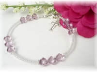 First Communion Swarovski Crystal Birthstone Bracelet