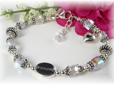 Grandmother Grandma Birthstone Bracelet Swarovski Crystal