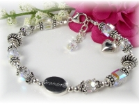 Grandmother Grandma Birthstone Bracelet Swarovski Crystal