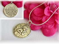 Guardian Angel Prayer Medallion Necklace