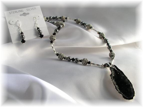 Quartz Half Geode Necklace