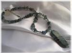 Iolite Agate and Swarovski Crystal Necklace