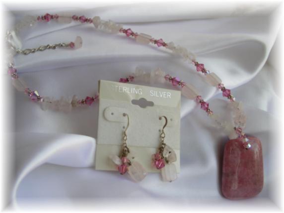 Rhodonite Gemstone Necklace