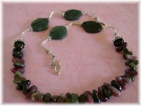 Tourmaline and Moss Agate Necklace