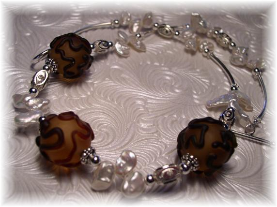 Lampwork necklace FWP Sterling Silver