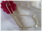 Freshwater Pearls and Swarovski crystal pendant necklace