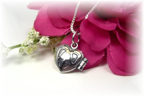 Sterling Silver Prayer Box Necklace New Mom Baby