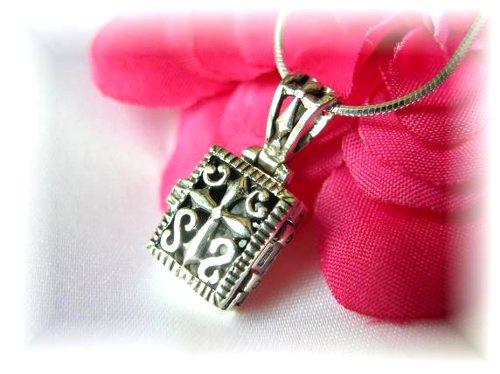 Sterling Silver Prayer Box Necklace