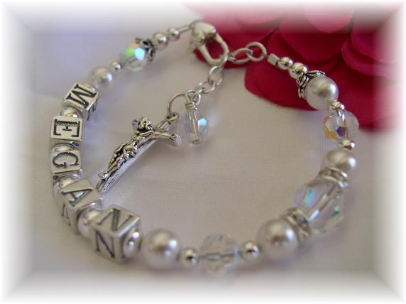 fc14882bd7c5f Girls or Womens Personalized Rosary Bracelet