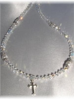 Crystal Rondelle Necklace