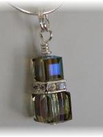 Swarovski Black Diamond Crystal Pendant
