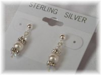 Crystal Pearl Rondelle Earrings