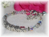 Swarovski Crystal Birthstone Name Bracelet