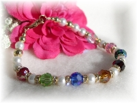 Pearl Birthstone Grandma Bracelet