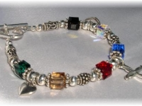Salvation Bracelet Swarovski Cubes & Sterling Charms