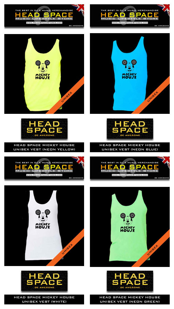 DJ and Music Vests - House Music Vests - Head Space DJ and Music Vests