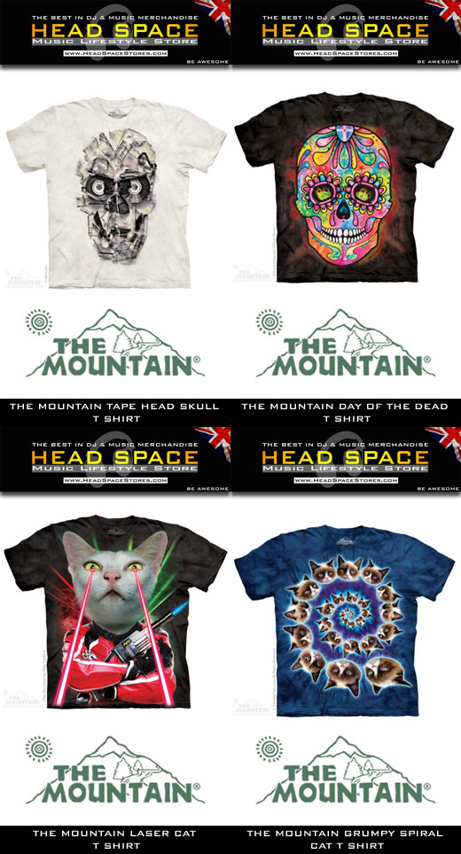 The Mountain DJ and Music T Shirts - Head Space Stores